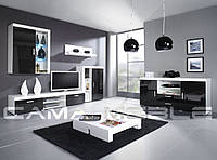 Мебельная стенка Samba C Белый + черный