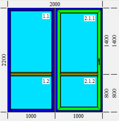 Раздвижная система металлопластиковая KBE