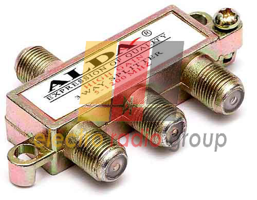 Разветвитель (Splitter) 3-way Alda, корпус металлический