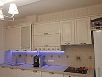 """Кухня  с деревянным фасадом """"Аура"""""""