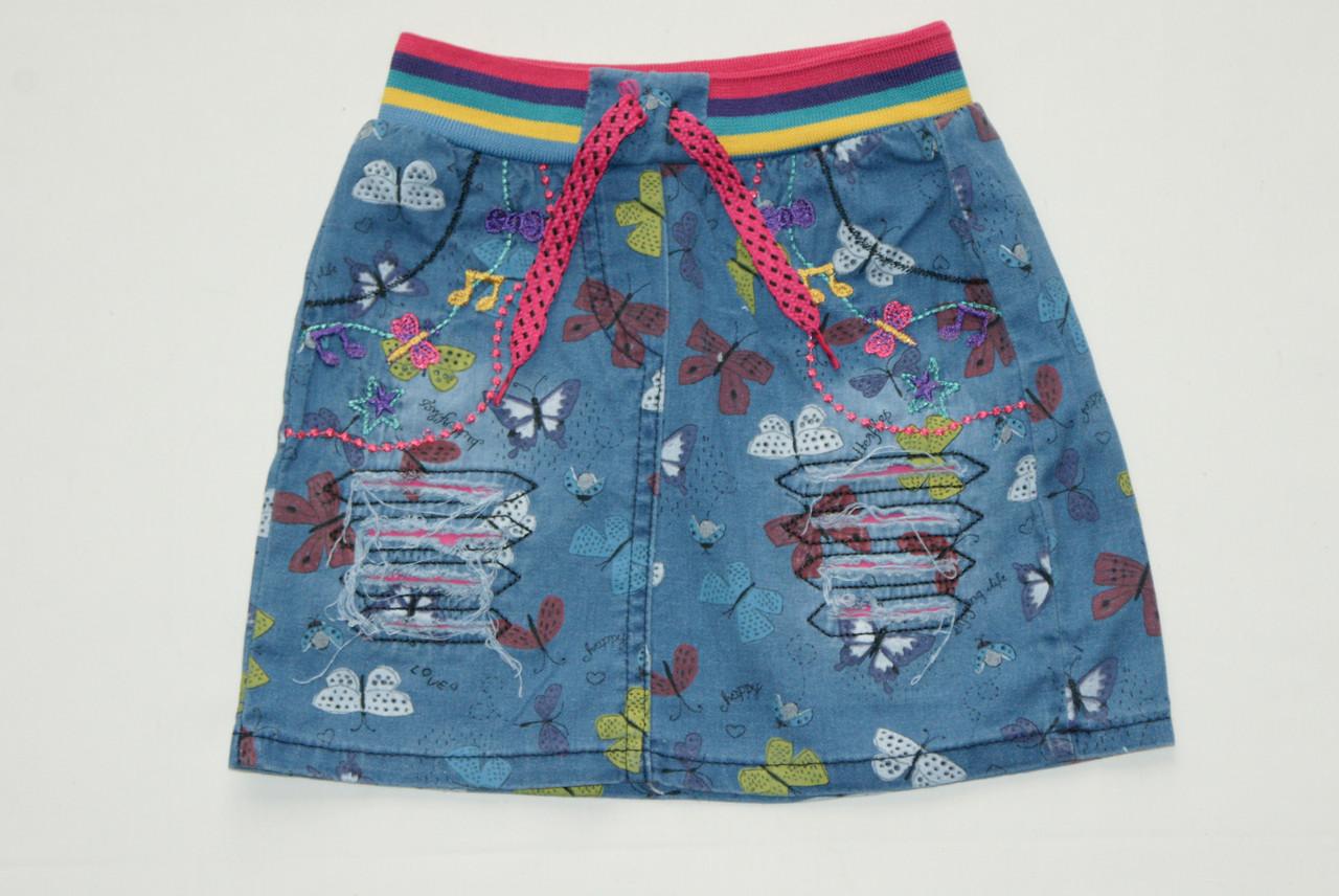 Джинсовая юбка на девочку 4 года