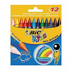 Восковые мелки BIC 12 цветов Wax Crayons