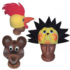 Маски животных, маски из поролона