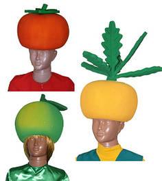 Маски овощи, маски фрукты, маски цветы из поролона