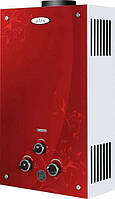 Газовая колонка DION JSD 10 дисплей, стекло, красная