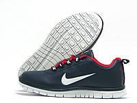 Кроссовки детские Nike Free Run синие с красным (найк фри ран)
