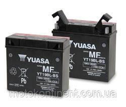 Аккумулятор для мотоцикла  YUASA YT19BL-BS сухозаряженный AGM 19Ah 170A 186x82x171, фото 2