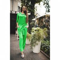 Комбез женский летний Яркий зеленый,магазин одежды