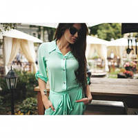 Комбез женский летний Яркий мята,магазин одежды