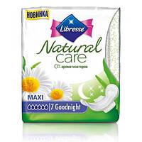 Прокладки гигиенические Libresse Natural Care Goodnight 7 шт. 6 капель