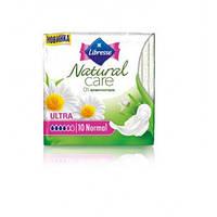 Прокладки гигиенические Libresse Natural Care Ultra Normal 10 шт. 4 капли