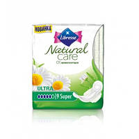 Прокладки гигиенические Libresse Natural Care Ultra Super 9 шт. 5 капель