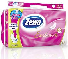 Туалетная бумага Zewa Exclusive 8 рулонов 19м/150 листов 4 слоя