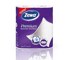 Кухонные полотенца Zewa Premium  (белые), 2 слоя, 2 рулона