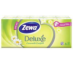 Носовые платки Zewa Deluxe Ромашка 3 слоя, 10*10 (21х21см)
