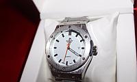 Стильные наручные часы Hublot (white), мужские часы hublot, прочные кварцевые мужские часы