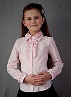 """Блузка  школьная """"Свит блуз"""" красивая мод.2010 розовый цвет"""