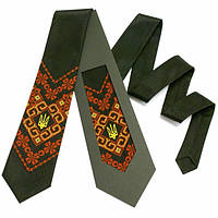 """Вышитый галстук с тризубом """"Надий"""""""