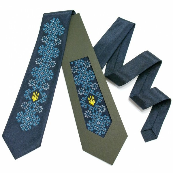 """Вишиту краватку з тризубом """"Киеслав"""""""