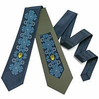 """Вышитый галстук с тризубом """"Киеслав"""""""