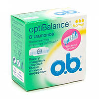 Тампоны o.b. OptiBalance Normal 8 шт.