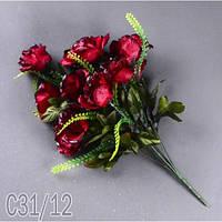 Роза раскрытая букет С 31/12 Цветы искусственные