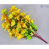 Букет лилия и роза В-14/48 (5 шт/уп) Искусственные цветы