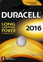 Литиевая батарейка Duracell 2016, 1шт.