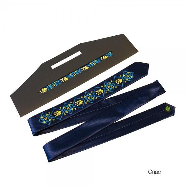 """Краватка з вишивкою """"Спас"""""""