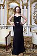 Платье женское вечернее на бретельках - Черный, фото 2
