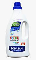 Жидкое органическое средство SODASAN Color для стирки цветных и черных вещей 1.5 л (эталон средств для стирки)
