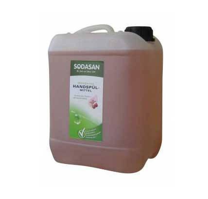 Органическое жидкое средство-концентрат для мытья посуды SODASAN Гранат 5 л, фото 2