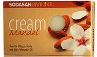Мыло-крем SODASAN органическое Almond для лица с маслами Ши и Миндаля 100 г
