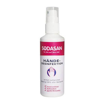 Органическое средство для рук SODASAN антибактериальное 100 мл, фото 2