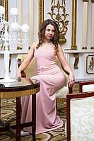 Платье женское вечернее на бретельках - Розовый