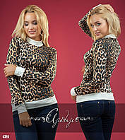 Кофточка с леопардовым принтом