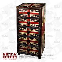 Комод (Union Jack) с британским флагом на 5 ящиков высокий