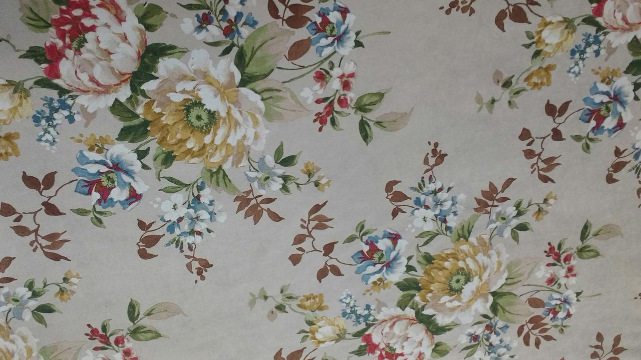 Мебельная обивочная ткань Принт Бегония 212
