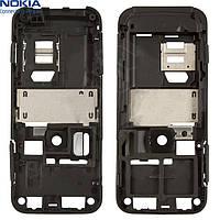 Средняя часть корпуса для Nokia 6120c/6121c, полная, оригинал (черная)