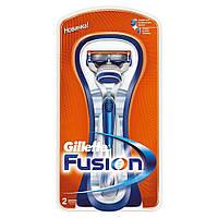 Бритва Gillette Fusion с 2 сменными картриджами