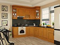 Кухня  «Элегея», классика с деревянным фасадом