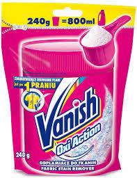 Универсальное средство VANISH OXI pouch для удаления пятен с активным кислородом, пакет 240 г, фото 2
