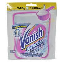 Универсальное средство VANISH OXI CRYSTAL WHITE 240г для удаления пятен с активным кислородом для бе