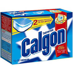 CALGON 2 in1 Средство для смягчения воды в стиральных машинах в таблетках 12 шт