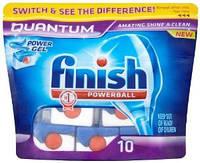 FINISH QUANTUM Таблетки для мытья посуды в посудомоющих машинах 10 шт