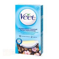 VEET Восковые полоски для эпиляции с витамином Е та мигдальним маслом для чувствительной кожи 20 шт