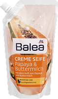 Крем-мыло (заправка) Папайя и Пахта Balea Creme Seife Papaya&Buttermilch 500ml