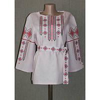 """Вышитая блузка """"Традиция"""" розового цвета"""