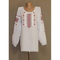 Вышиванка «Ника» с вышивкой красного цвета