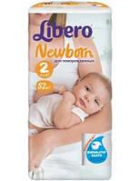 Подгузники детские Libero Newborn 2 (3-6кг) 52 шт.